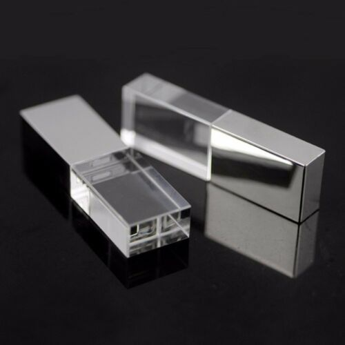 USB 3.0 Crystal flash drive Laser Customized inside 3D Logo Photography Gift