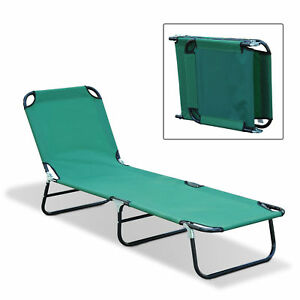 Bon Image Is Loading Outdoor Sun Chaise Lounge Recliner Patio Camping Cot