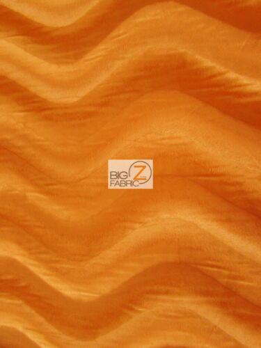 "58/""//60/"" WIDTH SOLD BY THE YARD Orange WAVY VELBOA FAUX FUR FABRIC"