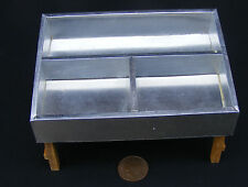 1:12 Silver Meat - Fish Display Counter Dolls House Miniature Shop Accessory A