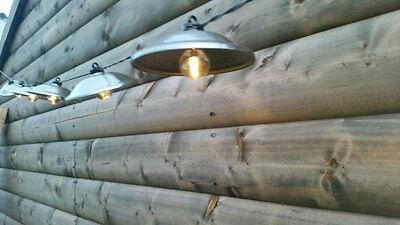 10 X Led Giardino Energia Solare Ufo Stile Luci Esterno Vialetto Lanterna Retrò