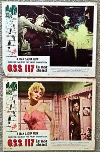 1958 O.S.S.117 Film Original Lobby Carte Lot de (2) - A Jean Sacha Film QmHNkyP2-09100556-895853932