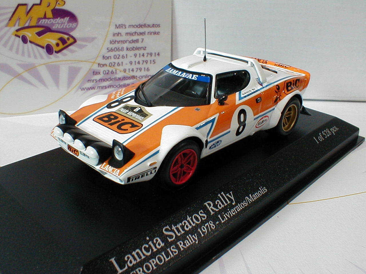 Minichamps 430781208 Lancia Stratos RAC Rally 1978 livieratos-Manolis 1 43