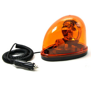 12v car truck flashing beacon amber magnetic revolving. Black Bedroom Furniture Sets. Home Design Ideas