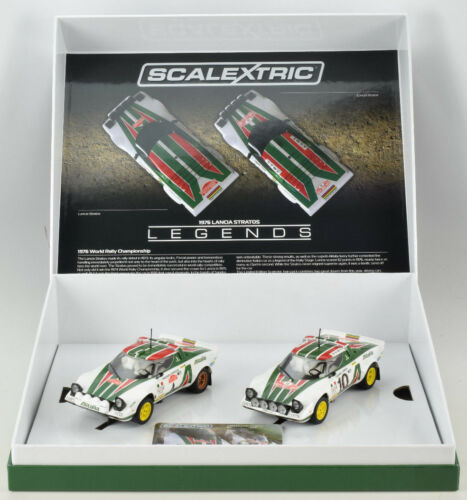Scalextric Legends Lancia Stratos -1976 Rally Champions Limited Boxed Set C3894A