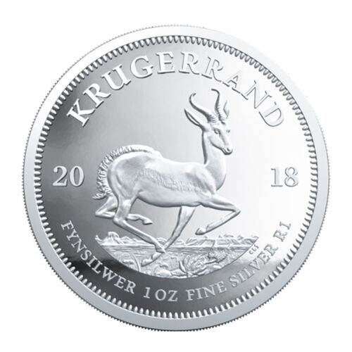 1oz Silver Coin 2018 Krugerrand UNC South Africa