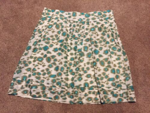 Womens Ann Taylor Loft Turquoise Green Animal Leop