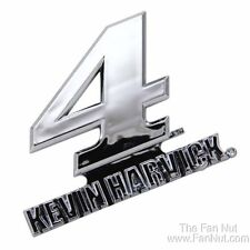 Kevin Harvick #4 Silver Chrome Colored Auto Emblem Decal NASCAR Racing