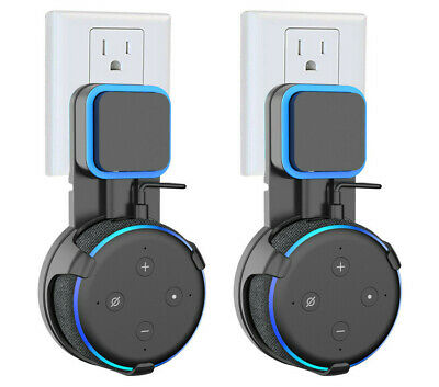2x Outlet Wall Mount Hanger Holder Stand For Amazon Echo