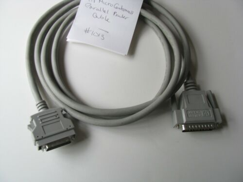 "80/""in 6/'ft HP Hewlett Packard Parallel Printer Cable DB25 36p Micro Centronics"