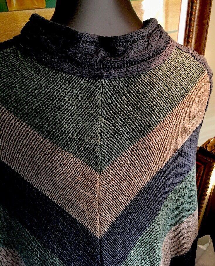 Pretty Angel Fall colors Women's Women's Women's Poncho Sweater. NWT Nice Gift  68b750