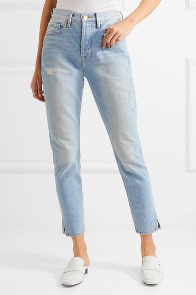 Frame Jeans le Originale Aderente Sdrucito Morrison Vita Alta Jeans 24 Nuovo