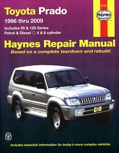 toyota prado land cruiser repair manual haynes manual workshop rh ebay ie Haynes Repair Manual 1991 Honda Civic Haynes Repair Manual Online View