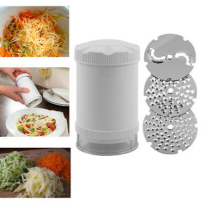 Multi Purpose Cheese Grater Handheld Vegetable Fruit Nut Chop Slicer Shredder