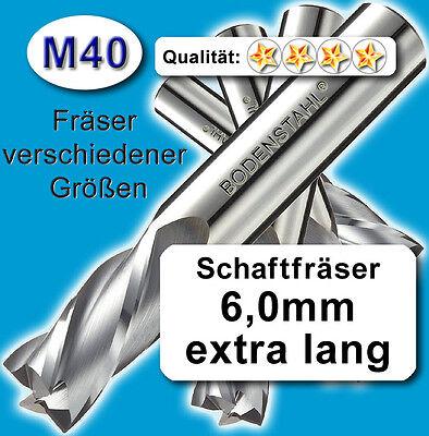 Schaftfräser Metall Kunststoff lang Z=3 5+6+8mm Fräsersatz