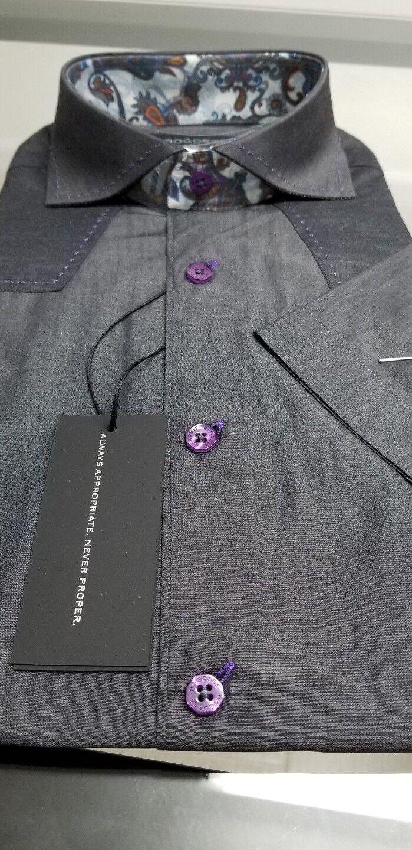 Wow Bogosse Men's size 3 or medium Short sleeve button down shirt,very stylish