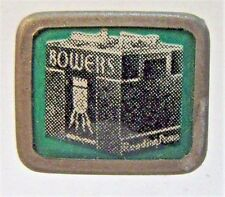 1930's BOWERS BATTERY Reading PA for Cars pinback button badge VERY RARE STYLE +