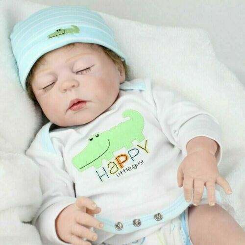 "18/"" Newborn Boy Doll Anatomically Correct Baby Dolls Silicone Reborn Dolls Gifts"
