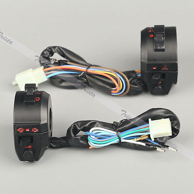 "Motorcycle 7/8"" Handlebar Horn Turn Signal Headlight Electrical Start Switch 12V"
