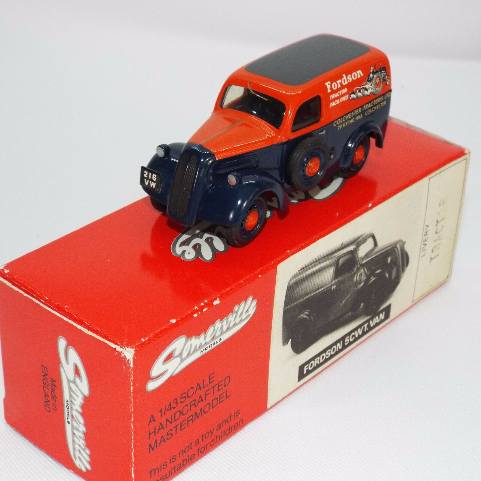Somerville white metal 1.43 scale mode VNMBl of the Fordson 5 cwt van