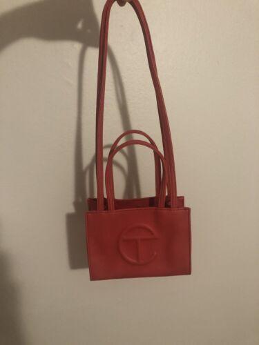 Red Telfar Shopping Bag Small