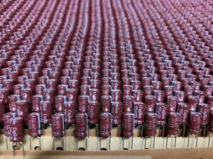 250pcs-X-Capacitor-Low-ESR-100uf-25V-105c-6-3x11mm-P-5-0mm-AMMO