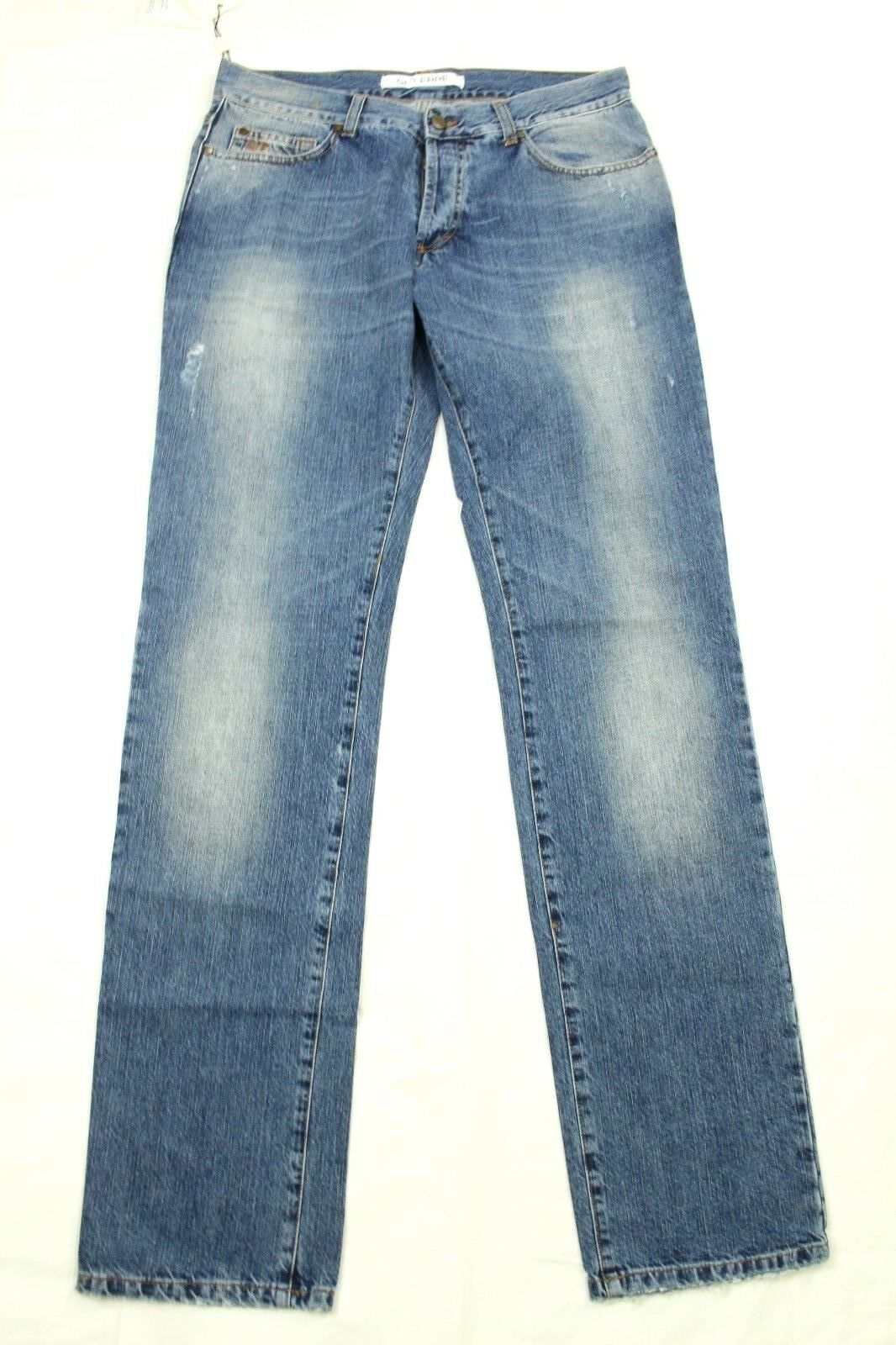 Gianfranco GF FERRE Men's Jeans Straight Distressed Button Fly Retail