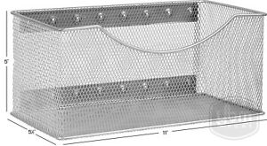 Ybmhome-Wire-Mesh-Magnetic-Storage-Basket-Trash-Caddy-Container-Desk-Tray-2244