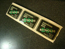 Three(3) reproduction Reynolds 531 bicycle seat tube decal stickers