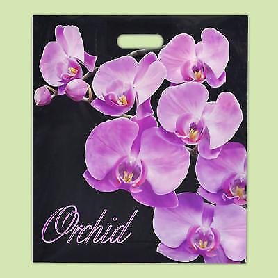 Packung mit 50 ECO Orchidee Gedruckt Schwarz Kunststoff Geschenk...