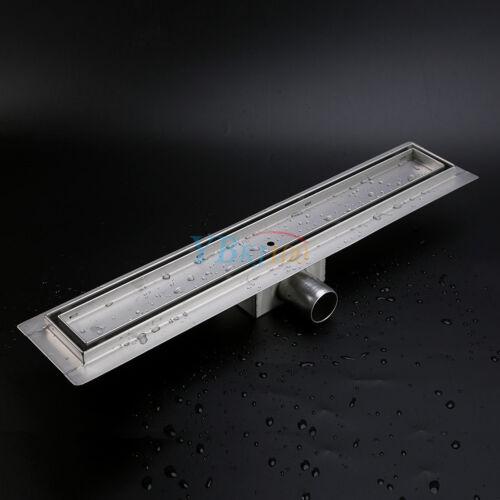 Edelstahl Duschrinne Siphon BODENABLAUF Ablaufrinne Dusch Ablauf  50-120cm