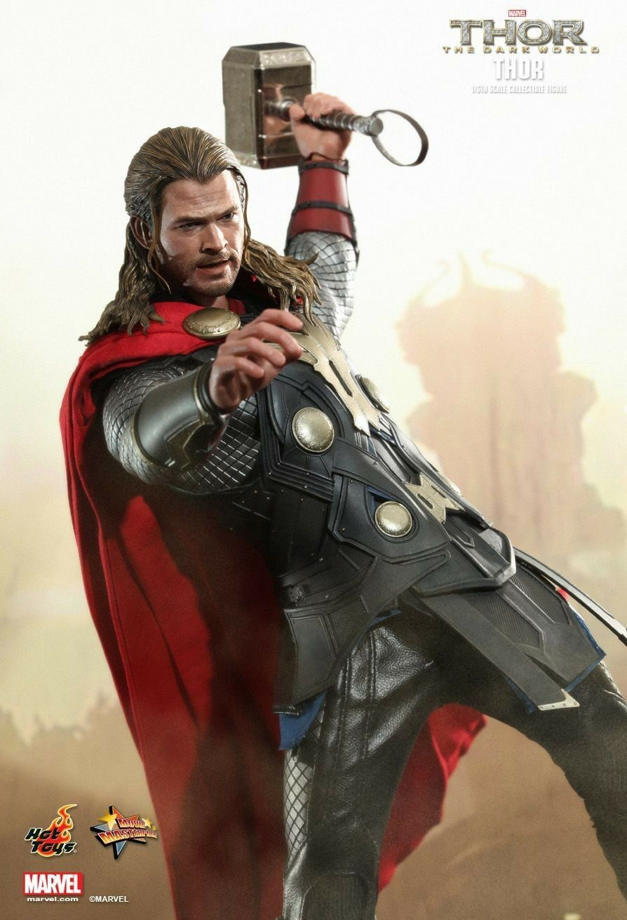HOT TOYS 1 6 SCALE 12 INCH THOR THE DARK WORLD   THOR FIGURE