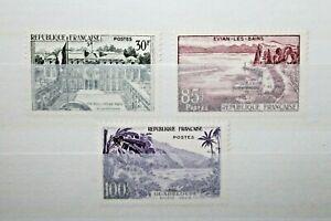 FRANCIA-1959-034-PUBBLICITA-039-TURISTICA-VEDUTE-PANORAMI-034-LINGUELLATI-MH-SET-C-10