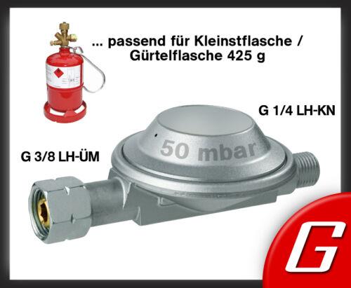 """50 mbar Gasregler f Kleinstflasche Gürtelflasche Druckminderer Gas Regler 3//8/"""""""