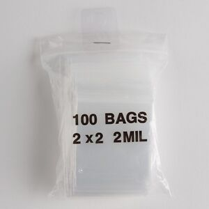 Image Is Loading 100 Small Ziplock Bags 2x2 Clear Plastic 2