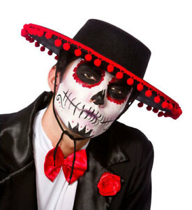 Image is loading Day-Of-The-Dead-Mariachi-Band-Hat-Fancy-  sc 1 st  eBay & Day Of The Dead Mariachi Band Hat Fancy Dress Spanish Mexican ...