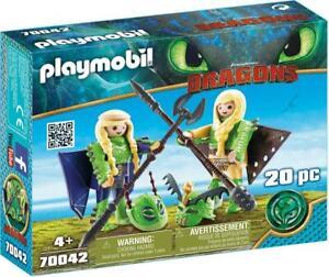 Playmobil-Dragons-Raffnuss-Und-Taffnuss-Mit-Fluganzug-Spielfiguren-Spieleset-NEU