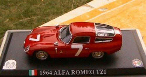 Alfa romeo tz1 1964 zagato red 1//43 Italy sport race