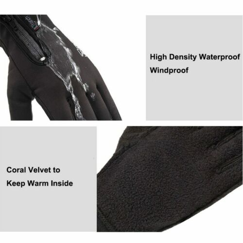 Cold-proof Ski Gloves Waterproof Winter Gloves Cycling Fluff Warm Gloves For