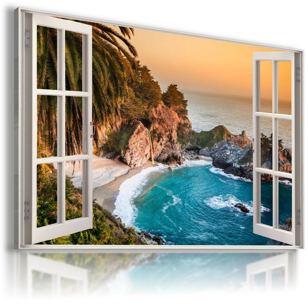 Paradise Beach Sea 3D Fenêtre Vue TOILE murale ART Photo Large W143 Mataga