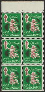 South-Africa-1953-TB-Tuberculosis-Cinderella-Xmas-seal-Booklet-Pane-VF-NH