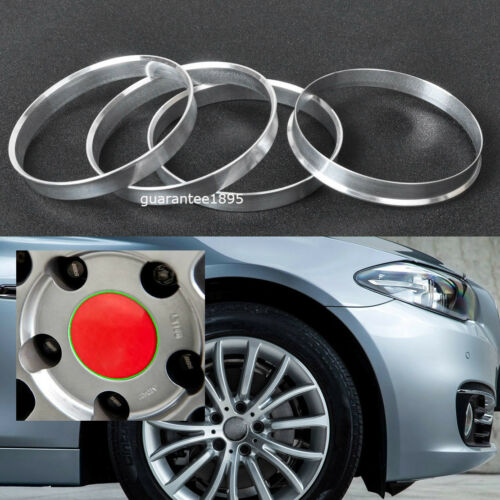 BRAND NEW SET OF 4 ALUMINUM HUB CENTRIC RING FOUR HUB RINGS 73.1mm to 63.4mm