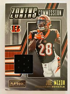 Details about 2019 Panini Playbook Zoning Commission Game Used GU Jersey Joe Mixon #8 Bengals