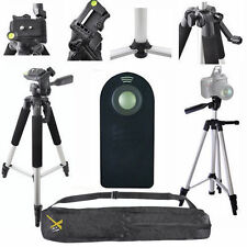 "LIGHTWEIGHT 57"" PHOTO TRIPOD + REMOTE FOR  NIKON D5000 D5100 D5200 D7000 D3400"