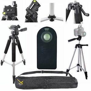 """LIGHTWEIGHT 57"""" PHOTO TRIPOD + REMOTE For NIKON D3000 D3100 D3200 D3300 D3400"""