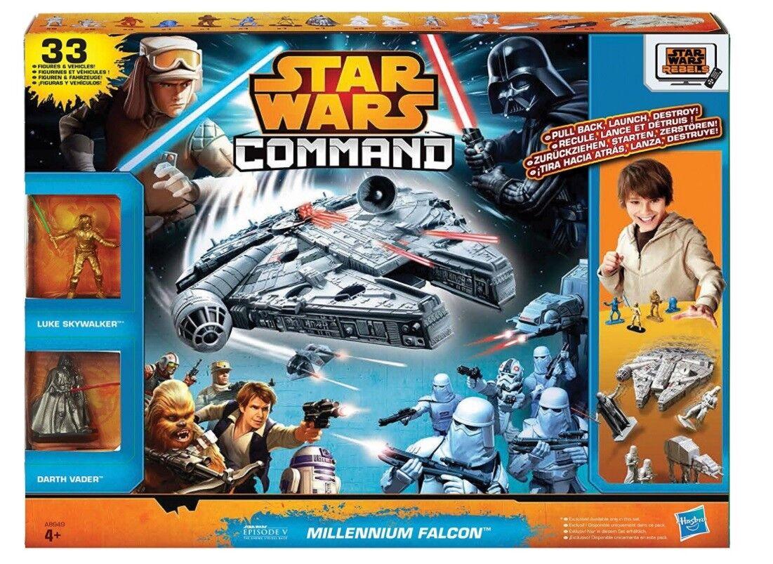 Halcón Milenario Star Wars comando Hasbro Exclusivo Luke Skywalker blu Sabre