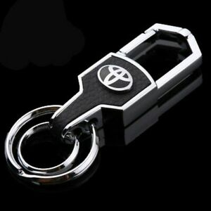 Toyota-car-metal-keyring-key-safe-fob-case-cover-badge-holder-chain-tags