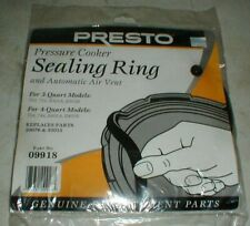 NEW Presto Pressure Cooker Sealing Gasket Ring w//Over Pressure Plug #09902