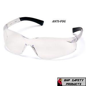 PYRAMEX ZTEK SAFETY GLASSES CLEAR ANTI-FOG LENS S2510ST WORK EYEWEAR Z87+ (1 PR)