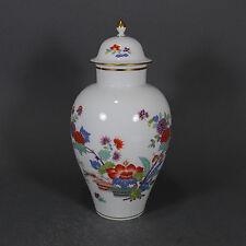 Meissen Vase Deckelvase Indische Blumen indisches Astmuster Kakiemon porcelain